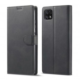 Etuis Portefeuille Samsung Galaxy A22 Cuir Noir