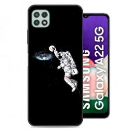 Coque Samsung Galaxy A22 imprimée Cosmonaute