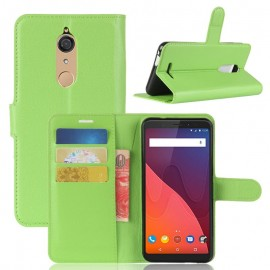 Etuis Portefeuille Wiko View Fonction Support Vert