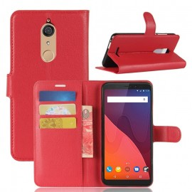 Etuis Portefeuille Wiko View Fonction Support Rouge