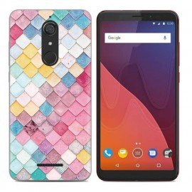 Coque Silicone Wiko View Aquarelle