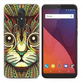 Coque Silicone Wiko View Felin