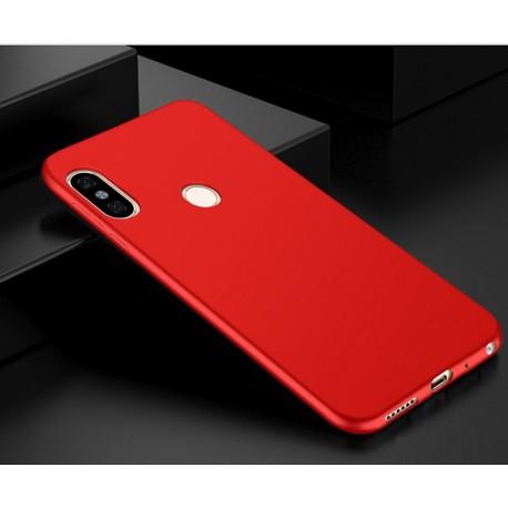 Coque Silicone Xiaomi Redmi Note 5 Pro Extra Fine Rouge
