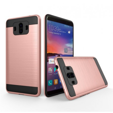 Coque Huawei Mate 10 Hybride Dual Or Rose