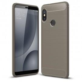 Coque Silicone Xiaomi Redmi Note 5 Pro Brossé Grise