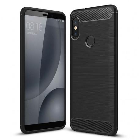 Coque Silicone Xiaomi Redmi Note 5 Pro Brossé Noir