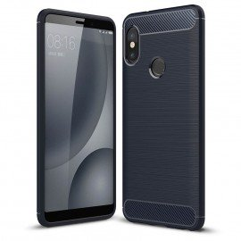 Coque Silicone Xiaomi Redmi Note 5 Pro Brossé Bleu