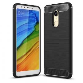 Coque Silicone Xiaomi Redmi 5 Plus Brossé Noir