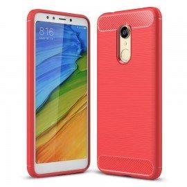 Coque Silicone Xiaomi Redmi 5 Plus Brossé Rouge