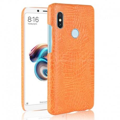 Coque Xiaomi Redmi Note 5 Pro Cuir Orange