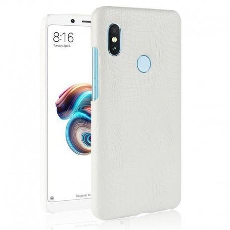 Coque Xiaomi Redmi Note 5 Pro Cuir Blanc