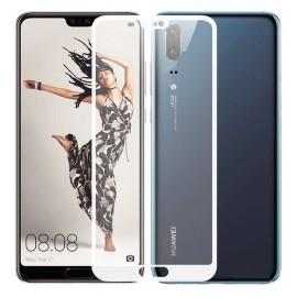 Verre trempé Huawei P20 Protecteur d'écran Blanc