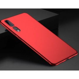 Coque Silicone Huawei P20 Extra Fine Rouge