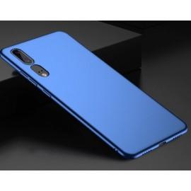 Coque Silicone Huawei P20 Extra Fine Bleu