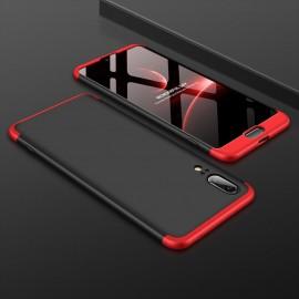 Coque 360 Huawei P20 Noir et Rouge