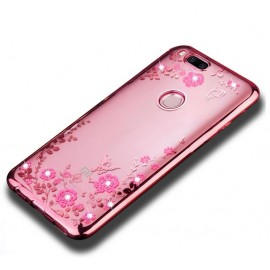 Coque Silicone Xiaomi MI A1 Fashion Rose