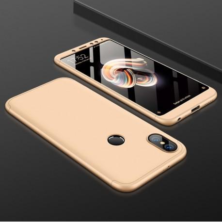 Coque 360 Xiaomi Redmi Note 5 Dorée