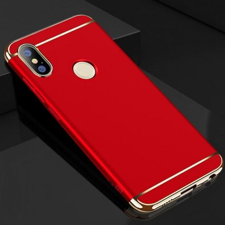 Coque Xiaomi Redmi Note 5 Rigide Chromée Rouge