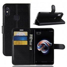 Etuis Portefeuille Xiaomi Redmi Note 5 Simili Cuir Noir