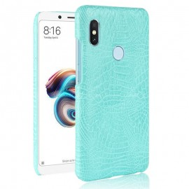 Coque Xiaomi Redmi Note 5 Croco Cuir Turquoise
