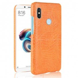 Coque Xiaomi Redmi Note 5 Croco Cuir Orange