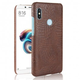 Coque Xiaomi Redmi Note 5 Croco Cuir Marron