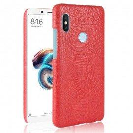 Coque Xiaomi Redmi Note 5 Croco Cuir Rouge