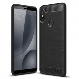 Coque Silicone Xiaomi Redmi Note 5 Brossé Noir