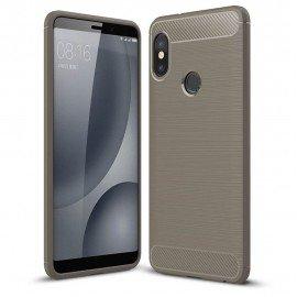 Coque Silicone Xiaomi Redmi Note 5 Brossé Grise
