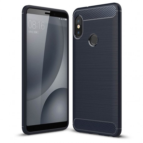 Coque Silicone Xiaomi Redmi Note 5 Brossé Bleu