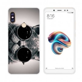 Coque Silicone Xiaomi Redmi Note 5 Chat Lunette