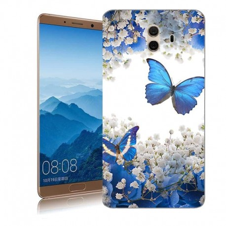 Coque Huawei Mate 10 Silicone Papillon