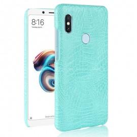Coque Xiaomi MI 6X Croco Cuir Turquoise