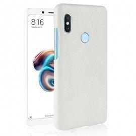 Coque Xiaomi MI 6X Croco Cuir Blanc