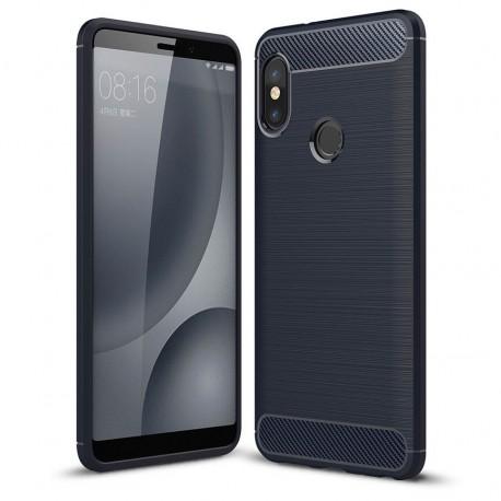 Coque Silicone Xiaomi MI 6X Brossé Bleu