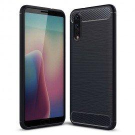 Coque Silicone Huawei P20 Brossé Noir