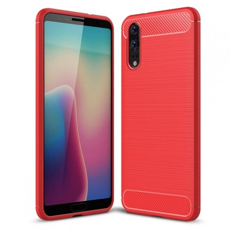 coque huawei p20 rouge silicone