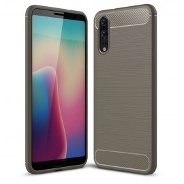 Coque Silicone Huawei P20 Brossé Grise