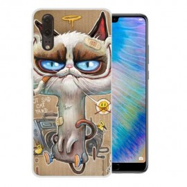 Coque Silicone Huawei P20 Chat Stone