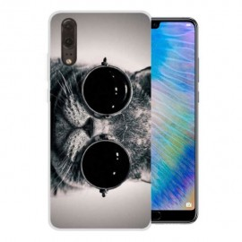Coque Silicone Huawei P20 Chatons