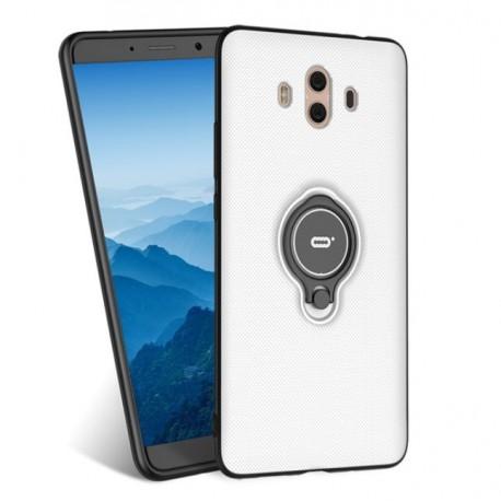 Coque Huawei Mate 10 Hybride Support Anneau Blanc