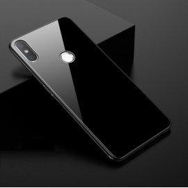 Coque Xiaomi MI 8 Silicone Noir et Verre Trempé