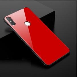 Coque Xiaomi MI 8 Silicone Rouge et Verre Trempé