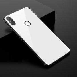 Coque Xiaomi MI 8 Silicone Blanche et Verre Trempé