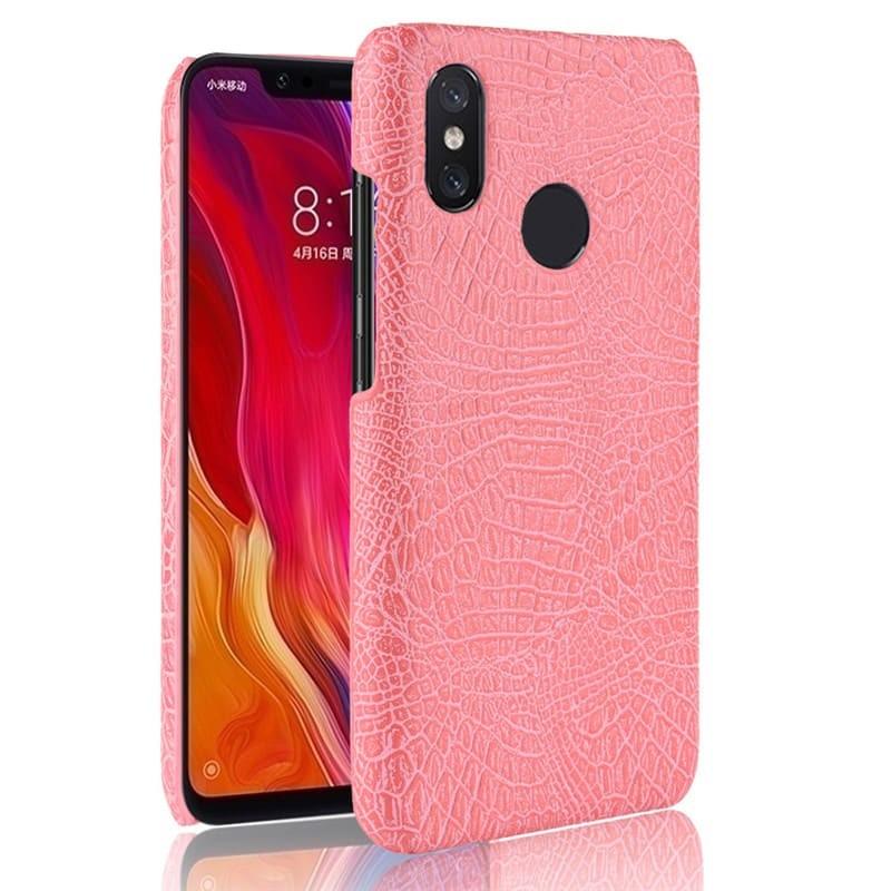 Coque Xiaomi MI 8 Croco Cuir Rose