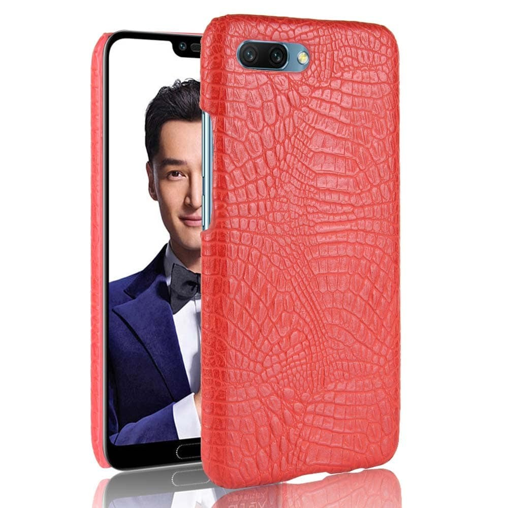 Coque Honor 10 Cuir Rouge