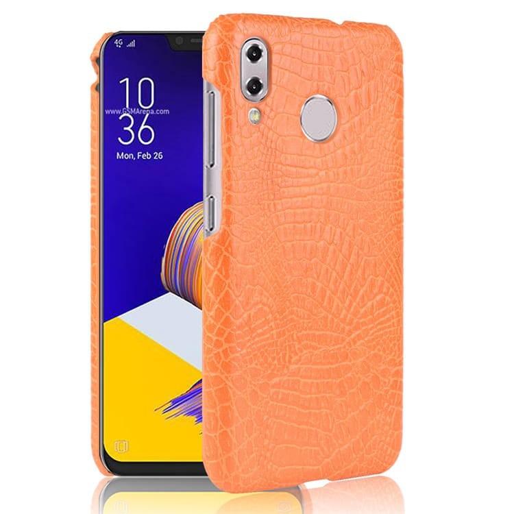 Coque Asus Zenfone 5 Croco Cuir Orange