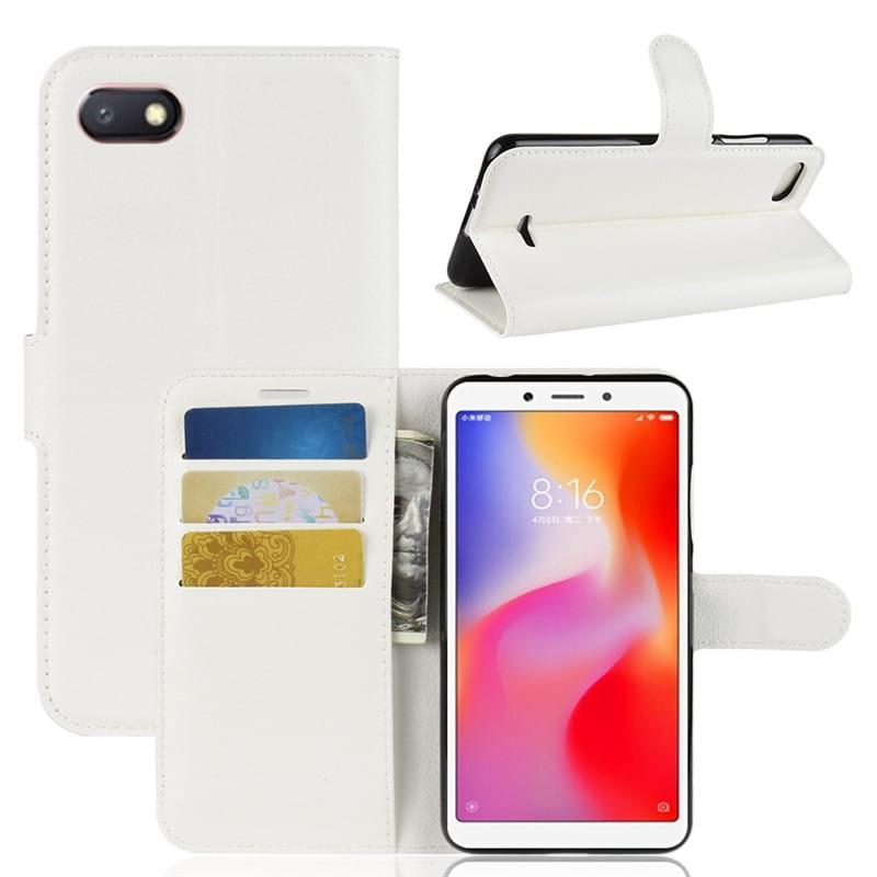 Etuis Portefeuille Xiaomi Redmi 6 Simili Cuir Blanc