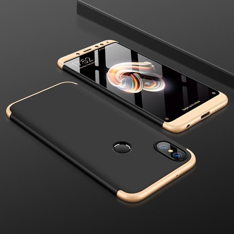 Coque 360 Xiaomi Redmi S2 Noir et Or.