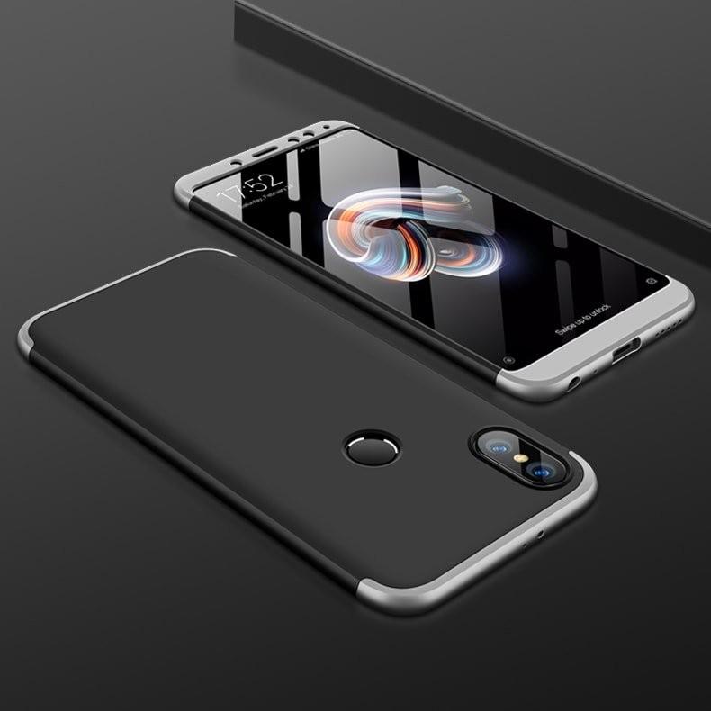 Coque 360 Xiaomi Redmi S2 Noir et Grise.